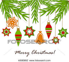 clipart of christmas ornaments hanging k6583852 search clip art