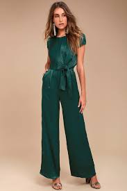 green jumpsuit chic forest green jumpsuit knotted jumpsuit