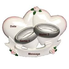 buy just married wedding ring ornament christmas ornament from a