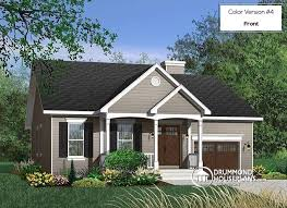ranch style bungalow house plan w3209 detail from drummondhouseplans com