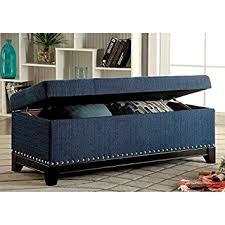 amazon com storage bench ottoman furniture of america rachelson