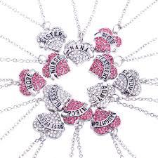 necklace pendants letters images Wholesale chic family carve english letters heart charm pendant jpg