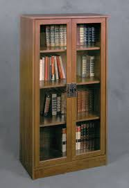 Small Bookshelf With Doors Furniture Bookcase With Glass Doors To Keeps Your Favorite Items