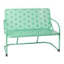 Kirklands Patio Furniture Retro Turquoise Metal Bench Kirklands