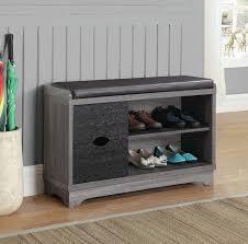 Shoe Storage Bench Barrel Studio Shoe Storage Bench Reviews Wayfair