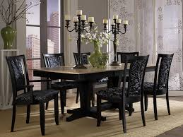 Dining Room  Compact Modern Dining Chairs Black Dining Room Table - Black dining room sets