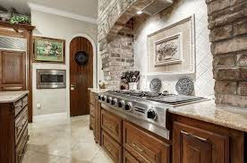 kitchen with brick backsplash brick backsplash tile home tiles