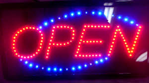 wholesale led open sign w animated lights