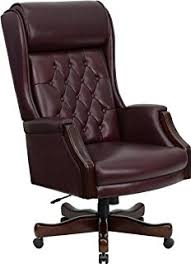 brown leather executive desk chair amazon com high back traditional tufted burgundy leather executive