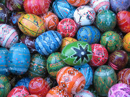 painted easter eggs for sale lots of wooden decorated easter eggs in various colors for sale