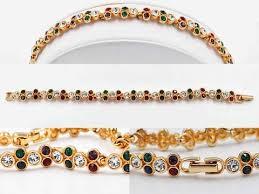 swarovski set bracelet images Vintage swarovski gold and crystal link bracelet multicolor jpg
