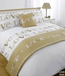 Duvet Cover Sizes Love Gold King Size 5pc Bed In A Bag Duvet Cover Bedding Set 1 X