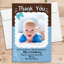 Invitation Card Design Christening 10 Personalised Blue Lace Birthday Christening New Baby Thank You