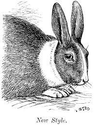 vintage rabbit free vintage rabbit clip illustration from scissor snaps