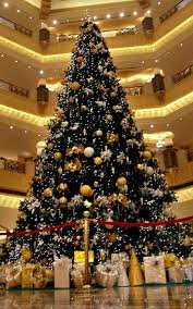 show professionally decorated trees with ribbon me