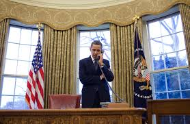 free public domain image president barack obama on phone with