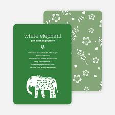 party invitation white elephant party invitation aka secret santa paper