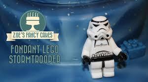 fondant lego stormtrooper star wars birthday cake topper youtube
