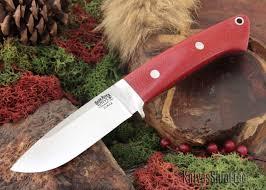 bark river knives classic drop point hunter elmax red linen