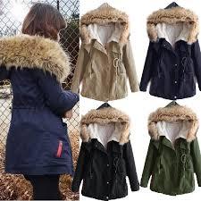 Warm Winter Coats For Women Women U0027s Thick Fleece Jacket Faux Fur Hooded Winter Long Coat Fur