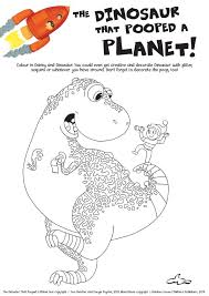dinosaur pooped planet colouring scholastic kids u0027 club