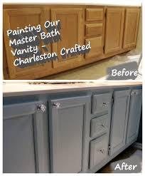 Repainting Bathroom Cabinets Painting Our Bathroom Vanity U2022 Charleston Crafted