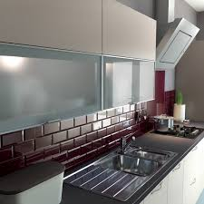 Tiles Designs For Kitchen by Looking For A Sleek And Modern Kitchen Try Burgundy Metro Kitchen