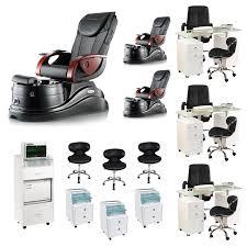 nail salon furniture package deals 3 black pacific ax pedi spa u0026 3