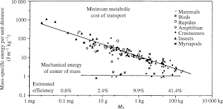 square root of 289 models and the scaling of energy costs for locomotion journal of