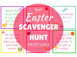 easter scavenger hunt easter scavenger hunt printable the organized dream