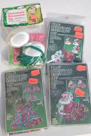ornaments kits sealed packages satin balls felt shapes