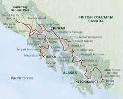 Hoonah Alaska Map by Fjords Of Alaska Ultimate Expedition Uncruise