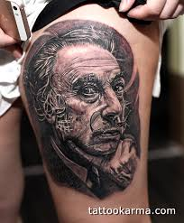 salvador dali portrait tattoo i did today