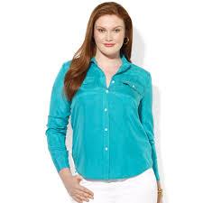 plus size silk blouse lyst by ralph plus size longsleeve silk shirt in green