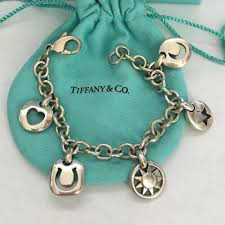 star bracelet charm images Tiffany co silver stencil heart sun star moon horseshoe charm jpg