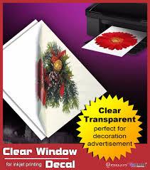 popular waterproof clear inkjet print custom wall decal stickers