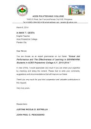 Sample Resume Objectives For Ojt Hrm Students by Ojt Application Letter Sample For It Student