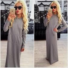 long sleeve long dress casual naf dresses