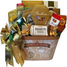 food basket gifts a world of thanks gourmet food and snacks gift basket