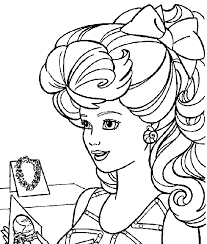 barbie pages coloring pages kids