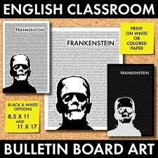 halloween bulletin board decor monster poster 2 mary shelley u0027s