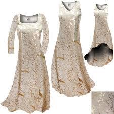 clearance beige u0026 gold metallic shiny slinky plus size