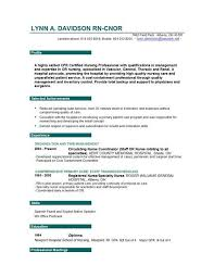 Live Career Resume Builder Nurse Resume Template Registered Nurse Resume Best Registered