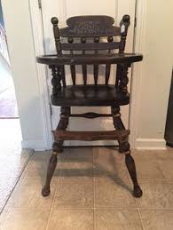 Antique Wood High Chair Vintage Wooden High Chair Jenny Lind Antique High Chair Vintage