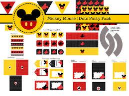 grab free mickey mouse printables birthday party minnie