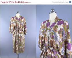 Wedding Lingerie Sale Sale Silk Robe Kimono Vintage Indian Sari Purple Floral