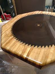 Saw Blade For Laminate Wood Flooring Refinishing This Beautiful Table And Adding A Saw Blade From This