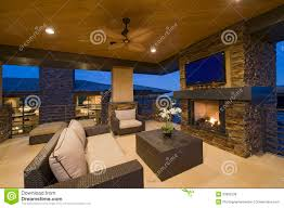 Modern House Living Room Living Room With Fireplace In Modern House Royalty Free Stock