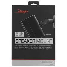 Speaker Wall Mounts Rocketfish Speaker Wall Mount Kit Rf Hswm5b C 5 Pack Speaker