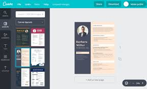 Best Sites To Upload Resume by Online Resume Maker For Freshers Free By Canva